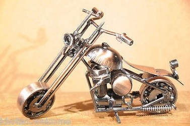 Decoration Moto Chopper Moto En Metal Miniature Moto Deco