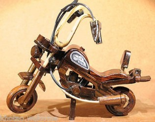 Décoration MOTO & CHOPPER - MOTO EN BOIS - MINIATURE MOTO - DECO HARLEY - VIS