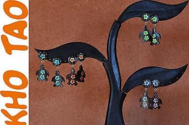 Boucles d'oreilles clou TORTUE, 4 coloris disponible, stud TORTUE