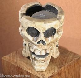 CENDRIER TETE DE MORT - cendrier crâne et squelette GOTHIQUE + de 3 modèles disponibles