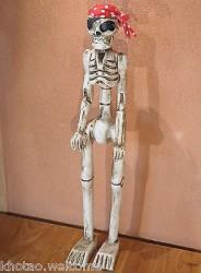 SQUELETTE EN BOIS sculpté -  crâne - squelette - DECO PIRATE - GOTHIQUE BIKERS