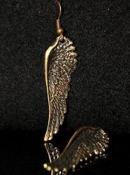 Boucles d'oreille AILES D'ANGE + de 60 DESIGNS métal doré patiné COULEUR BRONZE
