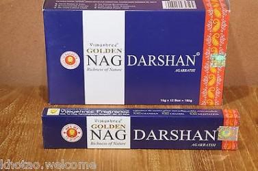 Test ENCENS NAG DARSHAN - GOLDEN NAG - en lot économique de 4/6/12 paquets de 15gr test