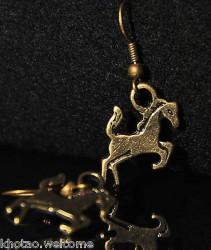 Boucles d'oreille CHEVAL + de 60 DESIGNS métal doré COULEUR BRONZE CHEVAUX