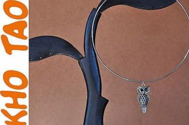 Collier raz de cou HIBOUX, pendentif HIBOUX, collier CHOUETTE