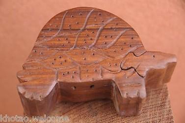 COFFRE A TRESOR - BOITE A SECRETS - BOITE PUZZLE - TORTUE ELEPHANT CHOUETTE CHAT
