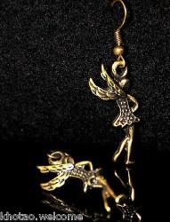 Boucles d'oreille FEES et  ANGES + de 60 DESIGNS métal doré patiné COULEUR BRONZE