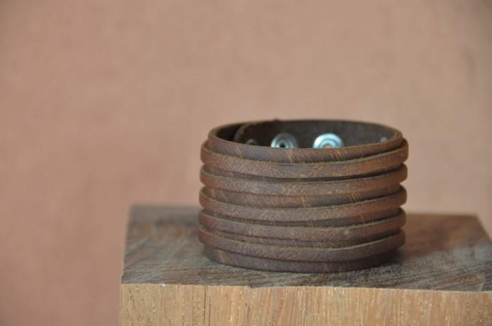 bracelet-en-cuir-de-force-marron-homme-femme-5-lanieres