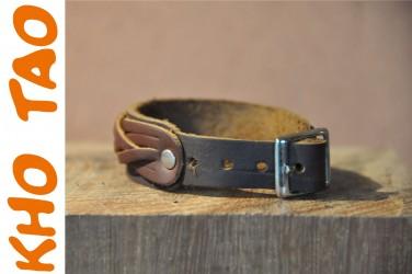 Bracelet cuir BOUCLE 4 POSITION max 19cm