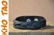 Bracelet en cuir extra mat - Noir Marron Camel - SIMPLE TRESSE +de 200 réf