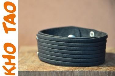 Bracelet cuir moyen MULTI LANIERE - Homme & Femme +de 200réf