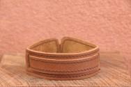 Bracelet cuir de force 1 BANDES BOUCLE - Homme & Femme & Ados