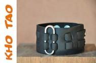 Bracelet cuir de force - Noir ou Marron - Homme EPINGLE + de 200 Designs