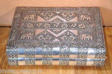 BOITE A BIJOUX - Coffret à bijoux - métal martelé & velours - INDIENNE ORIENTALE